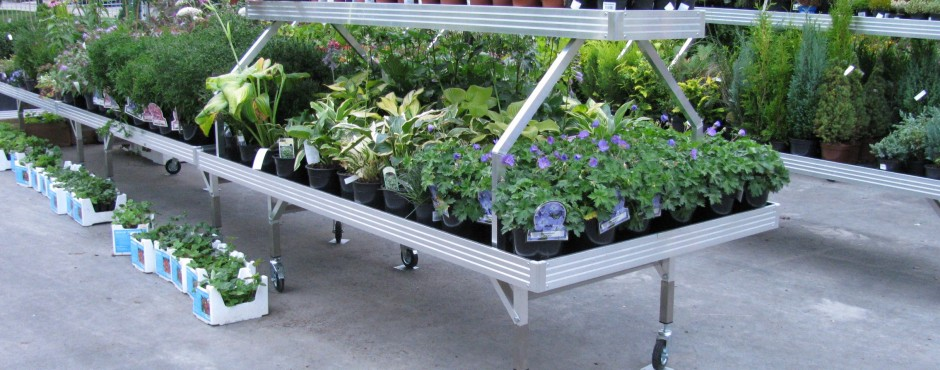 Plant benches in use
